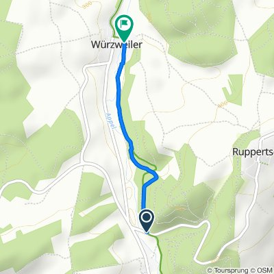 K34, Rockenhausen nach In den Rohrwiesen 1, Würzweiler