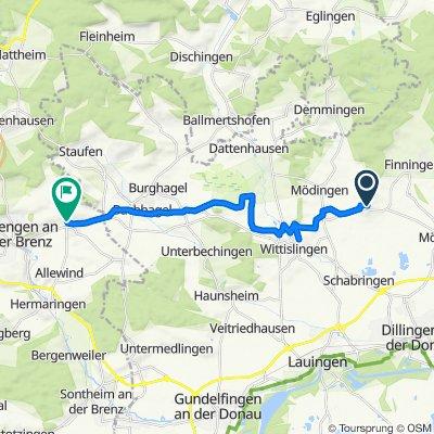 Kirchberg 9, Mödingen nach Staufener Straße 21, Giengen an der Brenz