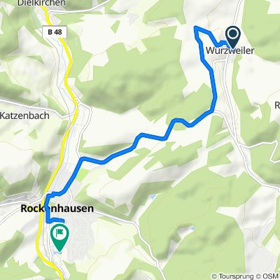 Relaxed route in Rockenhausen