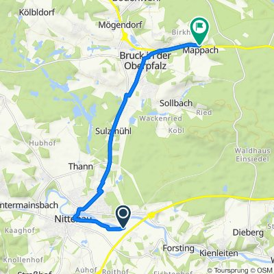 Gerade Fahrt in Bruck in der Oberpfalz