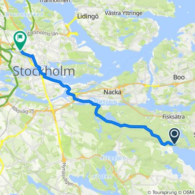 Slow ride in Stockholm