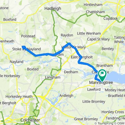Manningtree to Stoke by Nayland and back to Manningtree