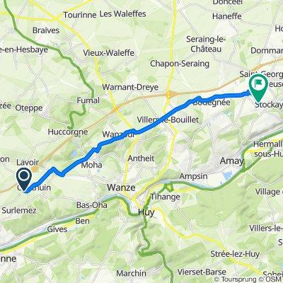 De Rue Marsinne 7C, Héron à Rue Grand Fayat 2, Saint-Georges-sur-Meuse