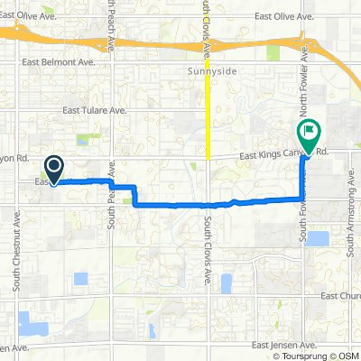 Moderate route in Fresno