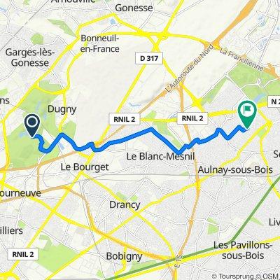 De Unnamed Road, La Courneuve à Rue des Érables 1, Aulnay-sous-Bois