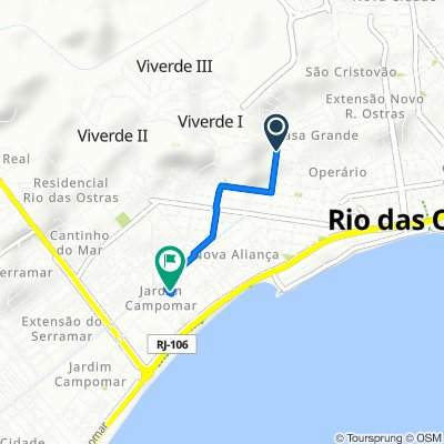 Moderate route in Rio das Ostras