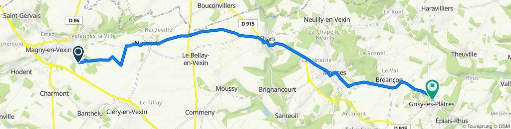 De Rue des Grès 2, Magny-en-Vexin à Rue de Berval 2, Grisy-les-Plâtres