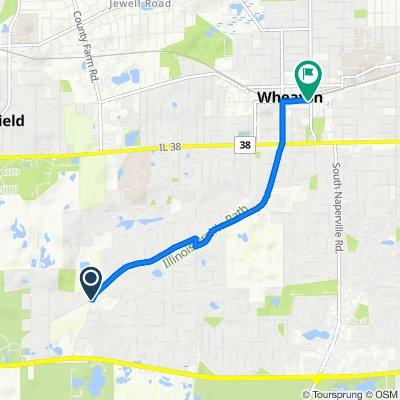 2201 Warrenville Ave, Wheaton to 102 W Liberty Dr, Wheaton
