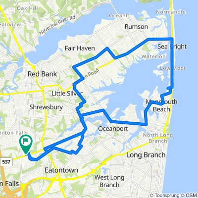 Supersonic route in Eatontown