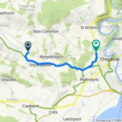 De B4235, Chepstow a A466, Chepstow