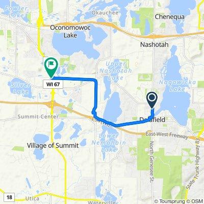 Moderate route in Delafield