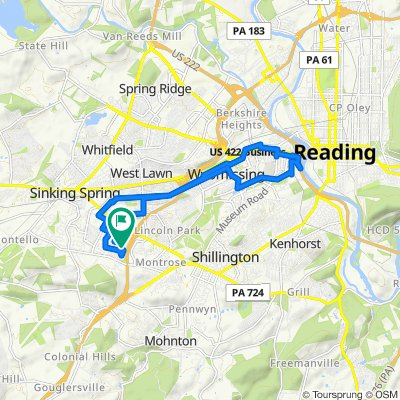 Relaxed route in Reading