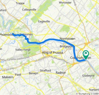 Conshohocken North to Towpath 30 miles