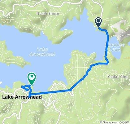 Steady ride in Lake Arrowhead