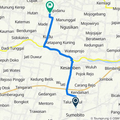 Jalan Sumobito - Kesamben 57, Kecamatan Sumobito to Waru, Kudu