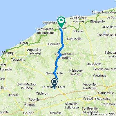 De 109 Rue du Renard, Fauville-en-Caux à 18 Route de Veulettes, Paluel