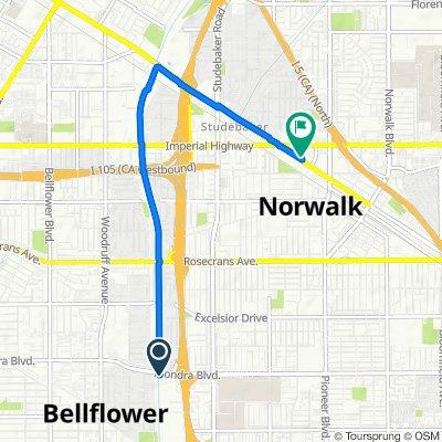 15915 Piuma Ave, Bellflower to 11605 Firestone Blvd, Norwalk