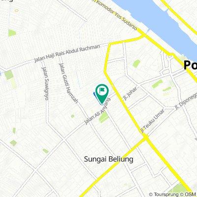 Jalan Putri Dara Hitam 6, Kecamatan Pontianak Kota to Jalan Putri Dara Hitam 6, Kecamatan Pontianak Kota