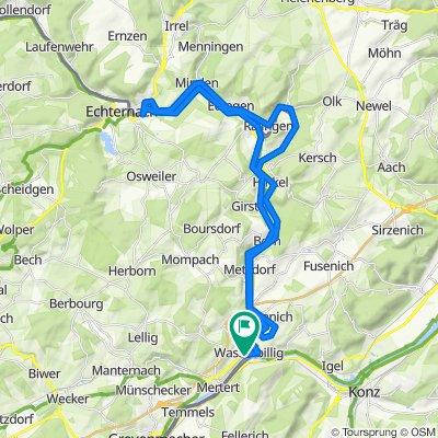 Wasserbillig nach Echternach und zurück