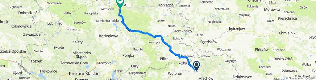 Żarnowiecka 47, Miechów-Charsznica do Żwirki i Wigury 1, Olsztyn