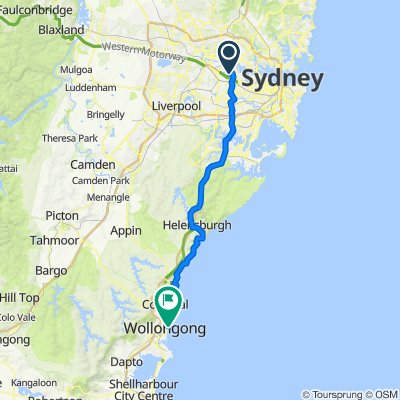 Route from 2A Australia Avenue, Sydney Olympic Park