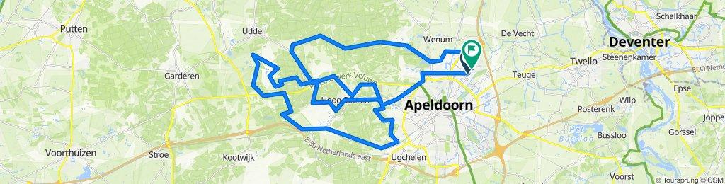 70 - Orderbos - Assel - Uddel - Via KD weer terug