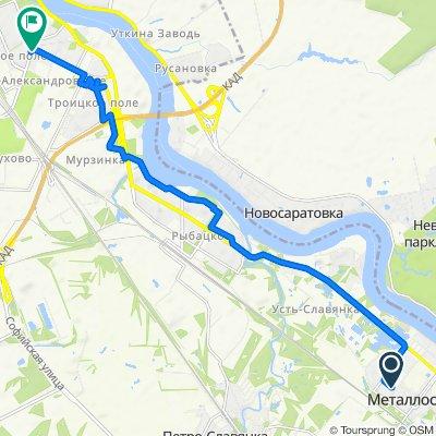 От Садовая улица 2, Санкт-Петербург до проспект Александровской Фермы 2, Санкт-Петербург