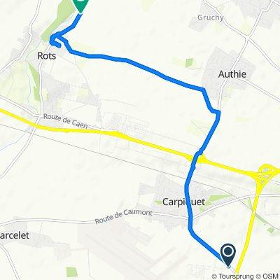Restful route in Bretteville-sur-Odon