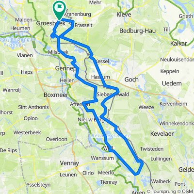 Maasduinen vanuit Groesbeek - 95 km