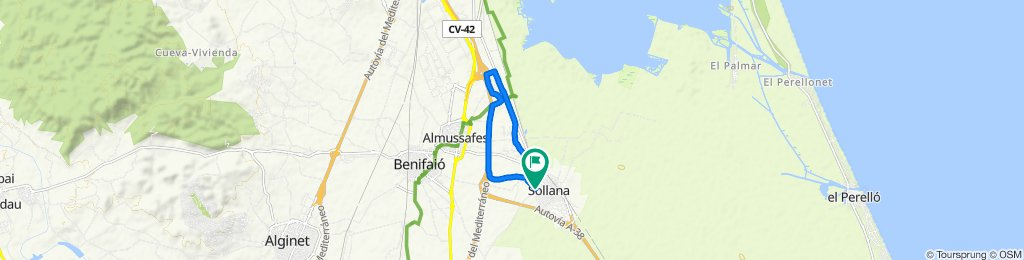 Relaxed route in Sollana