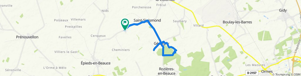 Relaxed route in Saint-Sigismond