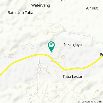 Jalan Batang Hari Sembilan, Lubuk Linggau Selatan II to Jalan Batang Hari Sembilan, Lubuk Linggau Selatan II