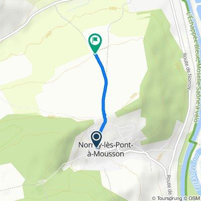 Trasa z 7 Rue Saint-Vincent, Norroy-lès-Pont-à-Mousson