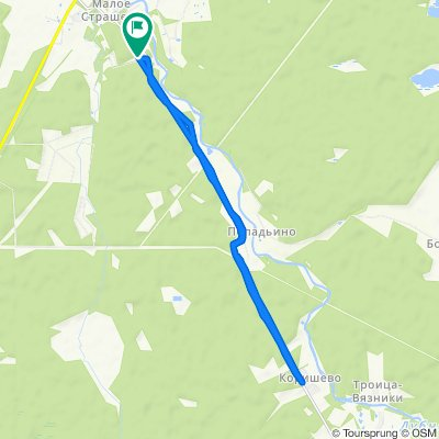 Restful route in Темповое