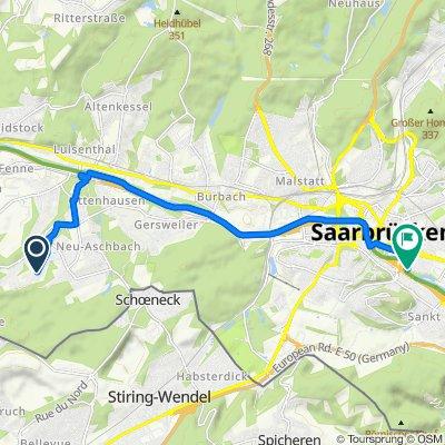 Karlstraße 83a, Saarbrücken nach Am Staden 11, Saarbrücken
