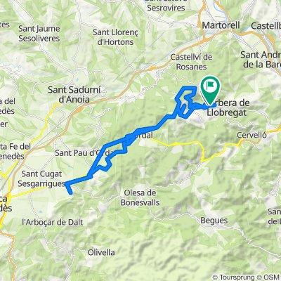 De Carrer de l'Estrella d'Orient 319C, Corbera de Llobregat a Carrer del Canigó 4, Corbera de Llobregat