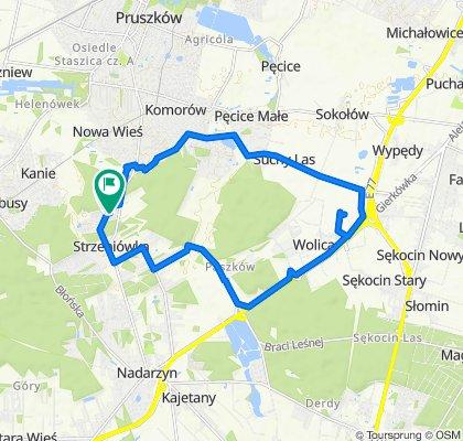 Restful route in Otrębusy