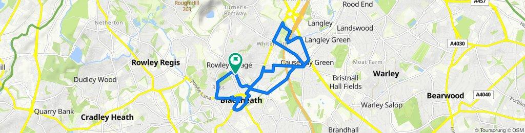 9 Britannia Road, Birmingham to 1 Stilehouse Crescent, Birmingham