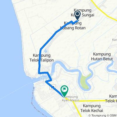 Jalan Kubang Rotan, Alor Setar to Taman Layer Fasa 4,Jalan Kuala Kedah