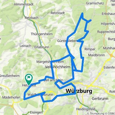 Hettstadt - Oberduerrbach - Waldhaus Einsiedel - Güntersleben - und zurück