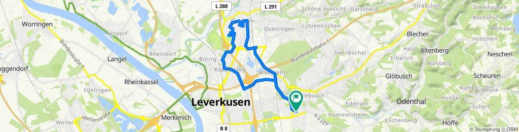 Restful route in Leverkusen