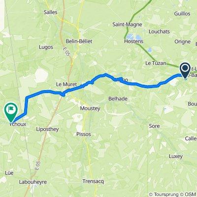 De Au Moulin de Lescroumpes 2, Saint-Symphorien à D43, Ychoux