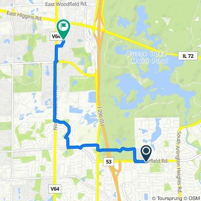 555 Biesterfield Rd, Elk Grove Village to 300–310 Woburn Ln, Schaumburg