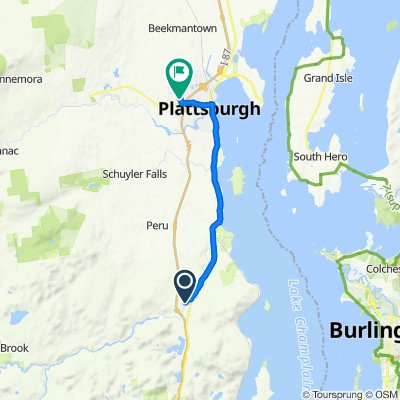 133 Pleasant St, Keeseville to 7 Pyramid Dr, Plattsburgh
