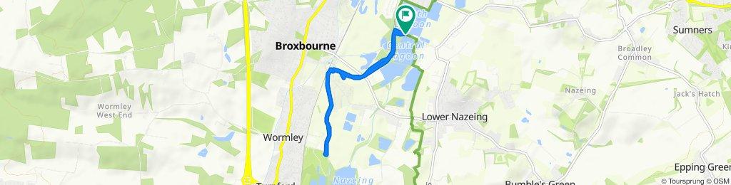 Meadgate Road, Waltham Abbey to Meadgate Road, Waltham Abbey