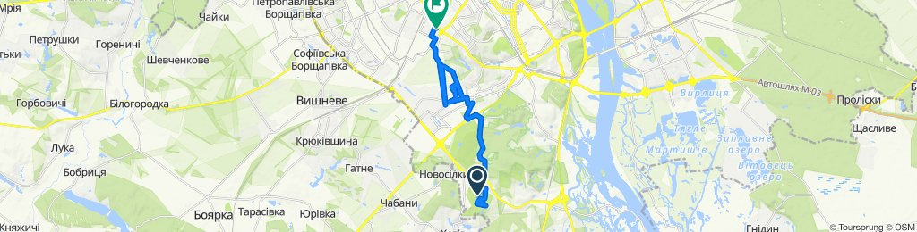 Route to вулиця Мартиросяна 5, Київ