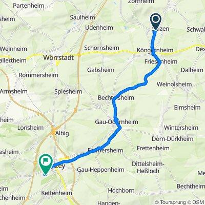 Selztal-Radweg Teil Hahnheim-Alzey