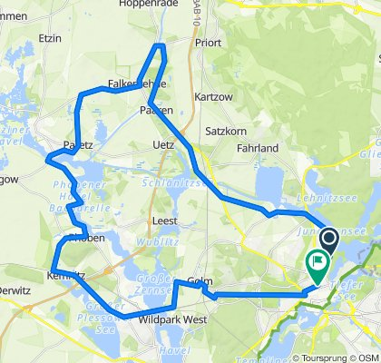High-speed route in Potsdam