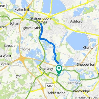 Farina, Bridge Wharf, Chertsey to Farina, Bridge Wharf, Chertsey