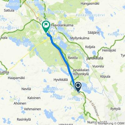 Helsingintie 1426, Janakkala to Nuuttilantie 21, Hämeenlinna
